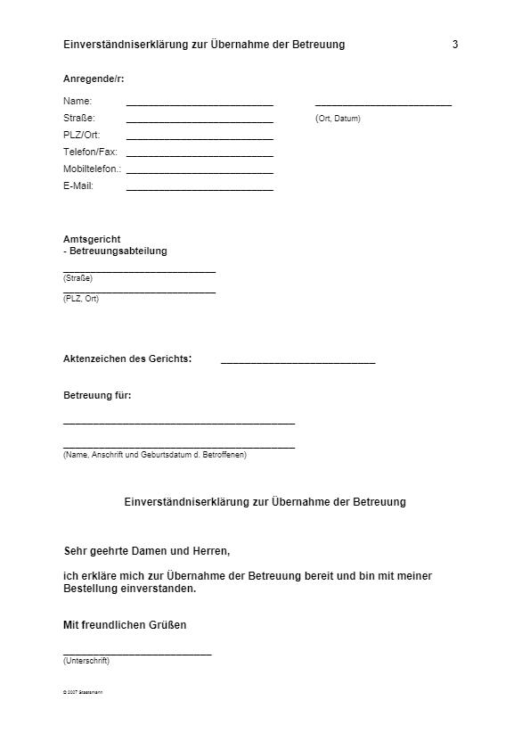 Betreuungsformulare De 4