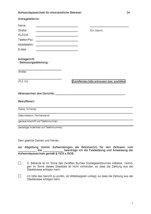 Betreuungsformulare De 13